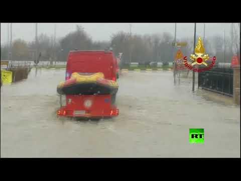 شاهد فيضانات تجتاح مناطق في شمال إيطاليا