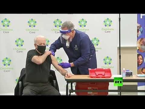 شاهد جو بايدن يتلقى الجرعة الثانية من اللقاح المضاد لـ كورونا