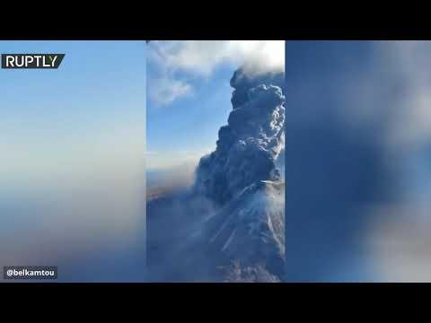 ثوران ثاني بركان في كامتشاتكا الروسية خلال أسبوع