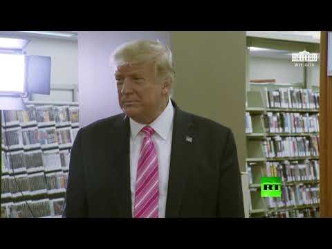شاهد ترامب يُدلي بصوته في الانتخابات الرئاسية في فلوريدا الأميركية