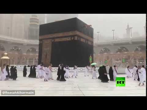 شؤون الحرمين في السعودية تُحذر من هطول أمطار فوق الكعبة