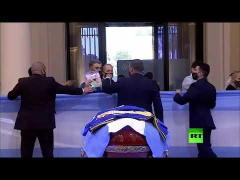 الآلاف يلقون النظرة الأخيرة على جثمان الأسطورة مارداونا