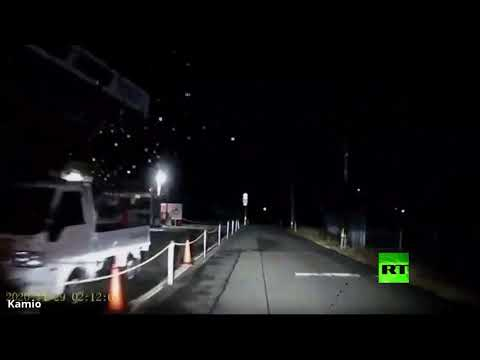 شاهد لحظة سقوط نيزك في اليابان