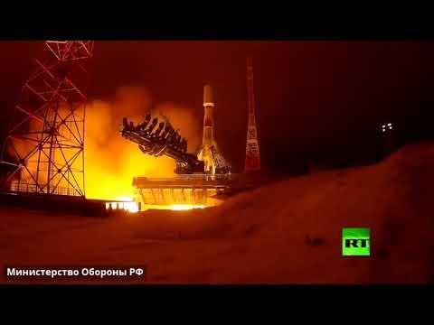 إطلاق صاروخ سويوز من مطار بليسيتسك الفضائي