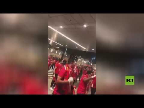 شاهد استقبال جماهيري أسطوري لبعثة الأهلي المصري في الدوحة